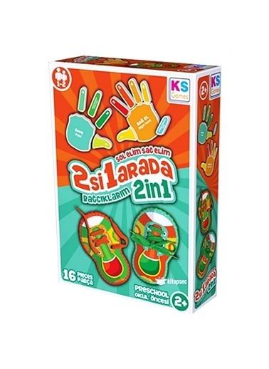 Ks Games KS Games Bağcıklar ve Parmaklar Okul Öncesi Çocuk Oyunu Renkli